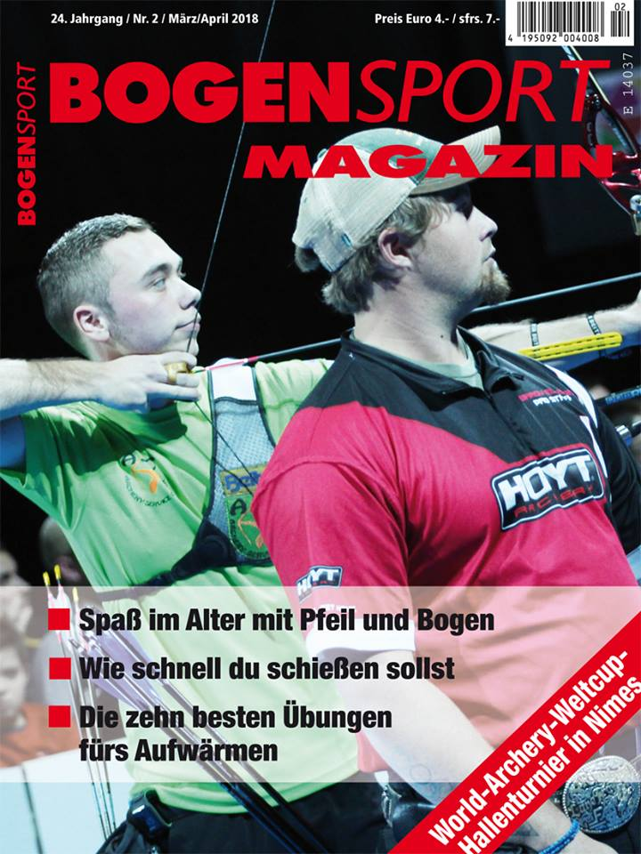 Bogensport Magazin - 24. Jahrgang / Nr. 2 / März April 2018