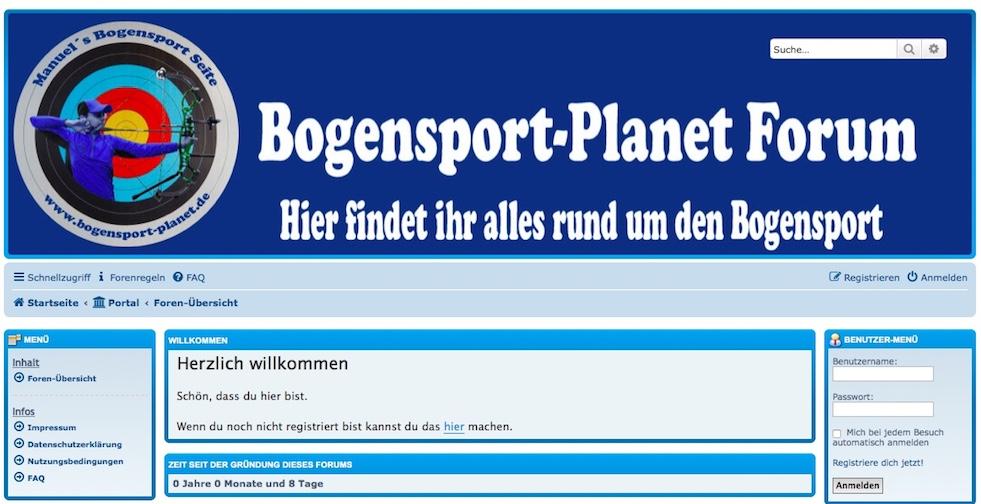 Bogensport-Planet Forum geht online