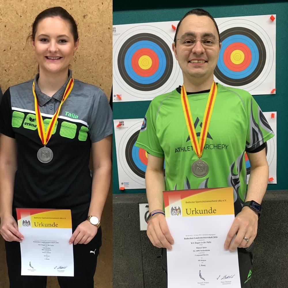 Zwei mal Silber bei der Landesmeisterschaft Baden für Team Bogensport-Planet