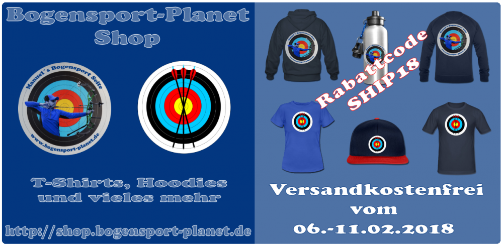 Versandkosten sparen im Bogensport-Planet Shop